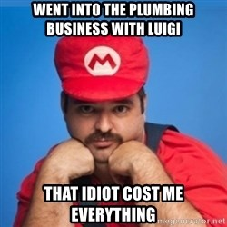 SUPERSEXYMARIO - went into the plumbing business with luigi that idiot cost me everything