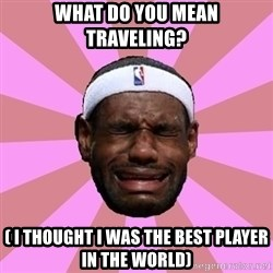 LeBron James - What do you mean traveling? ( I thought I was the best player in the world)