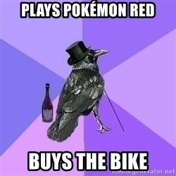 Rich Raven - plays pokémon red buys the bike