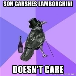 Rich Raven - son carshes lamborghini doesn't care