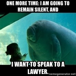 Overlord Manatee - One more time: I am going to remain silent, and I want to speak to a lawyer.