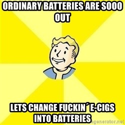 Fallout 3 - ordinary batteries are sooo out lets change fuckin´ e-cigs into batteries