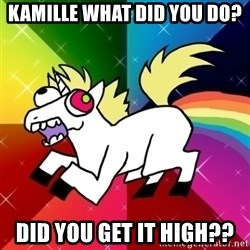 Lovely Derpy RP Unicorn - kamille what did you do? did you get it high??