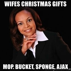 Irrational Black Woman - wifes christmas gifts mop. bucket, sponge, ajax