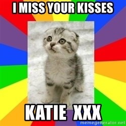 Cute Kitten - I Miss your kisses Katie  xxx