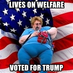 Conservative - lives on welfare voted for trump