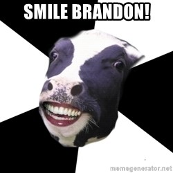 Restaurant Employee Cow - SMILE BRANDON!