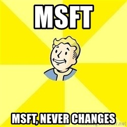 Fallout 3 - MSFT MSFT, never changes