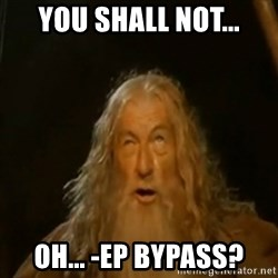 Gandalf You Shall Not Pass - You shall not... oh... -EP bypass?