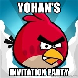Angry Bird - Yohan's Invitation Party