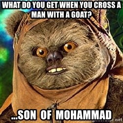 Rape Ewok - What do you get when you cross a man with a goat? ...son  of  mohammad