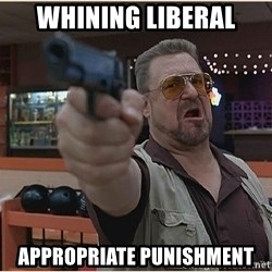 WalterGun - whining liberal appropriate punishment