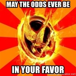 Typical fan of the hunger games - may the odds ever be in your favor