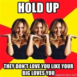 Beyonce Giselle Knowles - Hold Up They don't love you like your big loves you