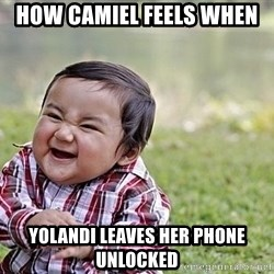 Evil Asian Baby - How Camiel feels when  Yolandi leaves her phone unlocked