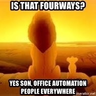 The Lion King - is that fourways? yes son, office automation people everywhere