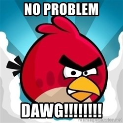 Angry Bird - No Problem DAWG!!!!!!!!