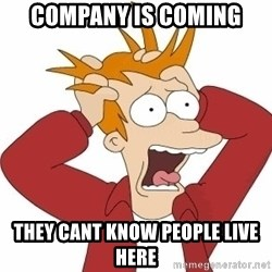 Fry Panic - Company is coming THEY CANT KNOW PEOPLE LIVE HERE