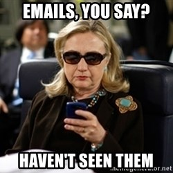 Hillary Clinton Texting - emails, you say? haven't seen them