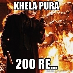 It's about sending a message - Khela pura 200 re...