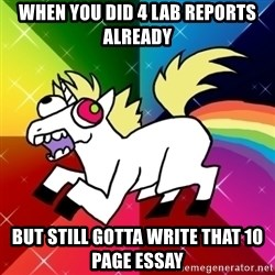 Lovely Derpy RP Unicorn - When you did 4 lab reports already but still gotta write that 10 page essay