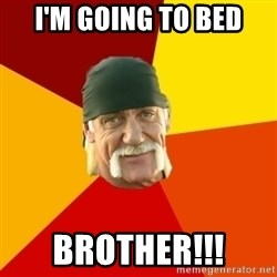 Hulk Hogan - I'm going to bed Brother!!!