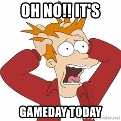 Fry Panic - oh no!! it's gameday today