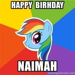Rainbow Dash - happy  birhday Naimah