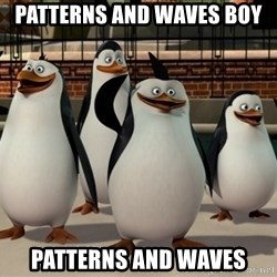 Madagascar Penguin - Patterns and waves boy Patterns and waves