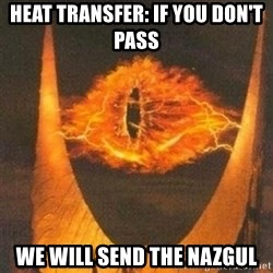 Eye of Sauron - Heat transfer: if you don't pass We will send the nazgul