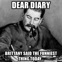 Dear Diary - dear diary brittany said the funniest thing today...
