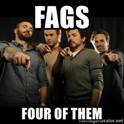 avengers pointing - fags four of them