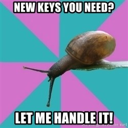 Synesthete Snail - New keys you need? let me handle it!