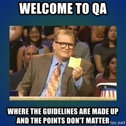 drew carey - Welcome to qa Where the guidelines are made up and the points don't matter