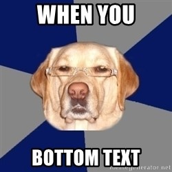 Racist Dawg - WHEN YOU BOTTOM TEXT
