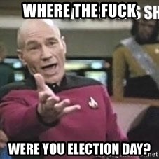 Patrick Stewart WTF - Where the fuck were you election day?