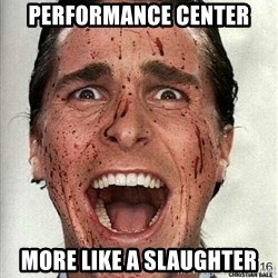 american psycho - performance center more like a slaughter