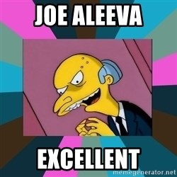 Mr. Burns - Joe Aleeva EXCELLENT