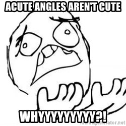 WHY SUFFERING GUY - acute angles aren't cute whyyyyyyyyy?!
