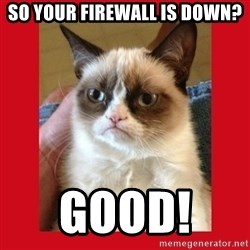 No cat - So your firewall is down? Good!