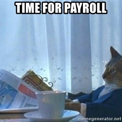Sophisticated Cat - TIME FOR PAYROLL