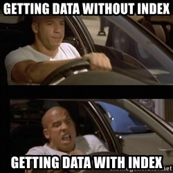 Vin Diesel Car - Getting Data without index Getting Data with Index