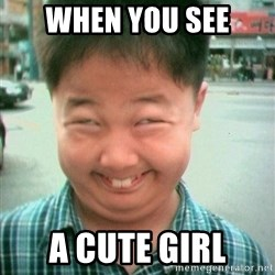 Lolwtf - when you see a cute girl