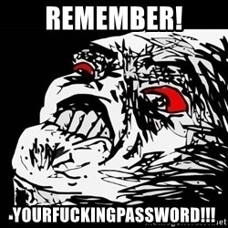 Rage Face - Remember! YOURFUCKINGPASSWORD!!!