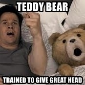 Ted Thunder Buddies - teddy bear trained to give great head
