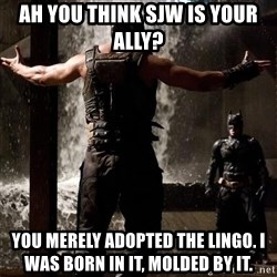 Bane Let the Games Begin - Ah you think SJW is your ally? You merely adopted the lingo. I was born in it, molded by it.