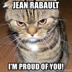 angry cat 2 - jean rabault i'm proud of you!