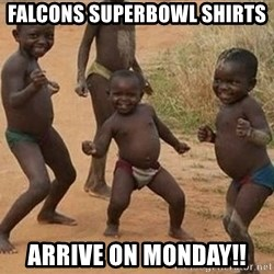 Dancing African Kid - Falcons superbowl shirts Arrive on monday!!