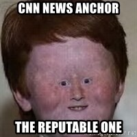 Generic Ugly Ginger Kid - cnn news anchor the reputable one
