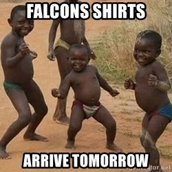 Dancing african boy - Falcons Shirts Arrive Tomorrow